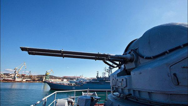 Военные учения в районе черного моря