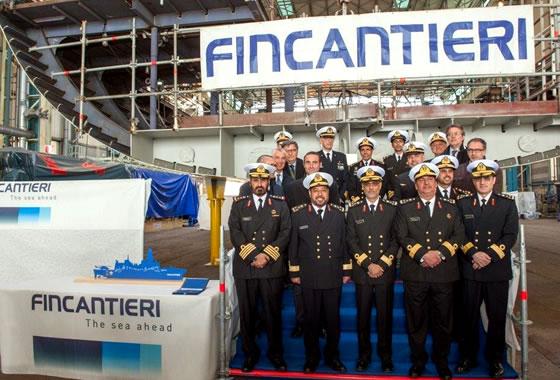 На верфи Fincantieri заложен киль головного корвета класса «Доха» для ВМС Катара