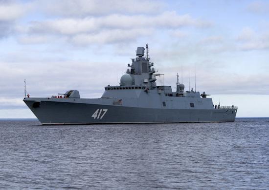 Фрегат «Адмирал Горшков» впервые вышел в море для выполнения плановых задач боевой подготовки