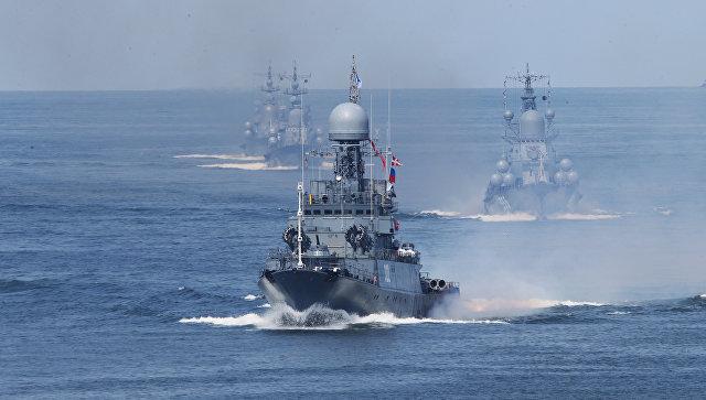 Корабли Балтийского флота совершили семь дальних походов в 2016 году