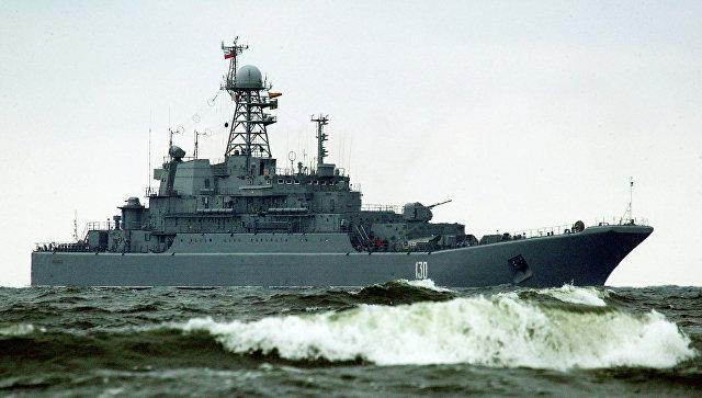 """Корабль """"Королев"""" зашел в Севастополь в рамках сокращения контингента в САР"""
