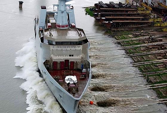 На предприятии Damen Shipyards в Галаце спущен на воду первый корабль OPV для ВМС Пакистана