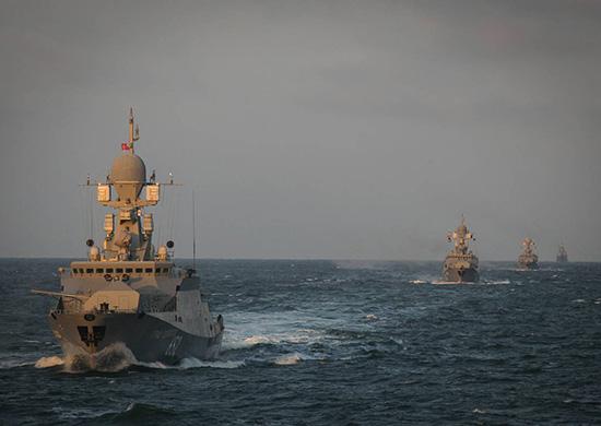 Малые ракетные корабли Каспийской флотилии «Град Свияжск» и «Великий Устюг» провели совместное учение в Средиземном море