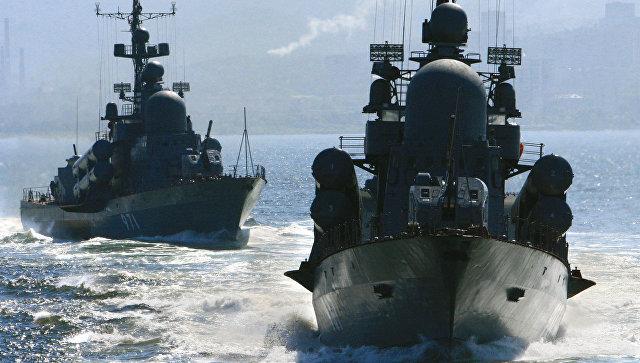 Корабли Тихоокеанского флота России отразили на учениях воздушный удар
