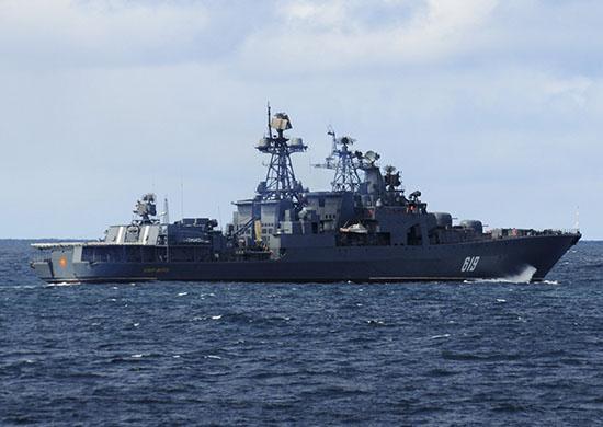БПК Северного флота «Североморск» участвует в международном учении «Аравийский муссон – 2018»