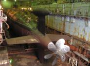 "АПЛ ""Кострома"" на ремонте в 2006 г. Редкое фото гребного винта АПЛ проекта 945"