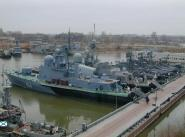 Бухта Золотой Затон – место базирования кораблей Каспийской флотилии в Астрахани.