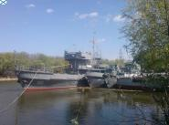 Отряд аварийно-спасательных судов в пункте базирования Никольское.