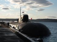"""Атомный подводный крейсер """"Орел"""" у причала в Североморске"""