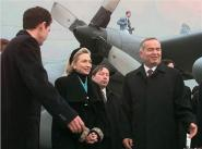 Х. Клинтон и И. Каримов, 1997 год