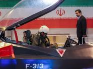 Президент Ирана Махмуд Ахмадинеджад на презентации Qaher-313