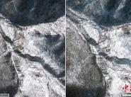 Спутниковые снимки района испытаний