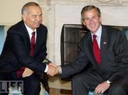 Дж. Буш и И. Каримов