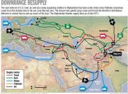 Маршруты поставок силам НАТО в Афганистане