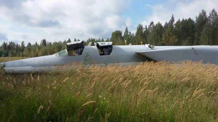Стратегический бомбардировщик Ту-22М3 выкатился за пределы ВПП в Калужской области