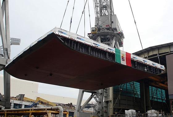 На верфи Fincantieri заложен киль универсального десантного корабля для ВМС Италии