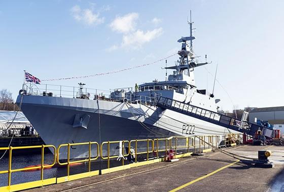 Состоялась церемония крещения головного патрульного корабля класса «Ривер-2» ВМС Великобритании