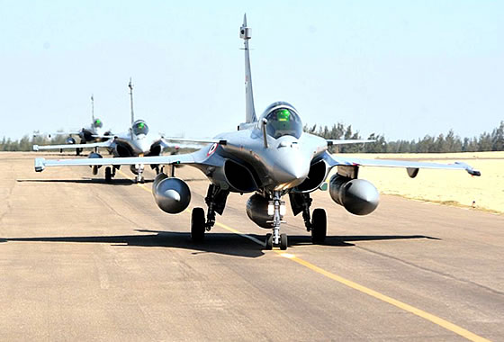 ВВС Египта получили третью партию истребителей «Рафаль»