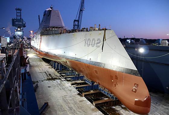 Состоялся спуск на воду третьего эсминца УРО класса «Зумвальт»
